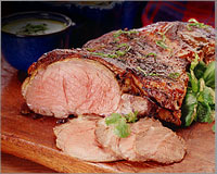 Butterfly leg of lamb with spices
