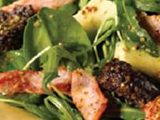Black Pudding and Bacon Salad