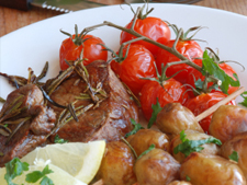 Lamb Steaks with Rosemary