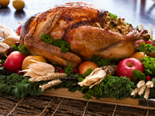 Roast Turkey withThyme and Onion Stuffing