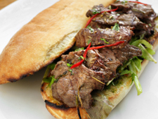 Steak Sandwich with Chilli Butter