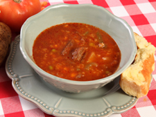 Beef,bacon and bean soup
