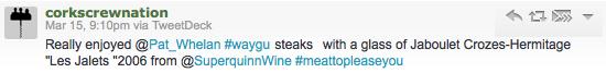 Customer wagyu steak review 1