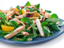 Warm Chicken Salad with Cashew Nut and Mango Dressing