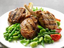 bbq lamb cutlets with summer veg
