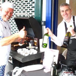 James Whelan Butchers Master Butcher Alistair with Gary Gubbins (@rednosewine)