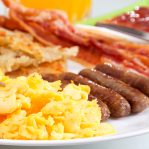 Bacon Eggs and Sausages