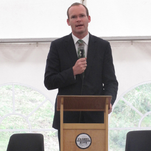 Minister Simon Coveney Talking at the Cashel Blue Dairy Launch