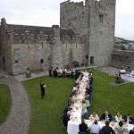 James Whelan Butchers Long Table Dinner 2008 - Birds Eye View of Guests Dining in the Grounds of Cahir Castle