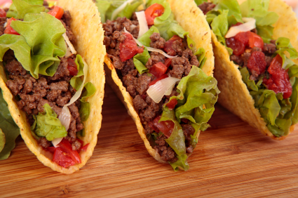 Mexican beef tacos