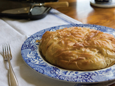pork filo pie