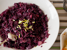 Braised Red Cabbage with Apples and Wine