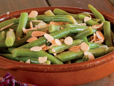 French Beans with Almonds