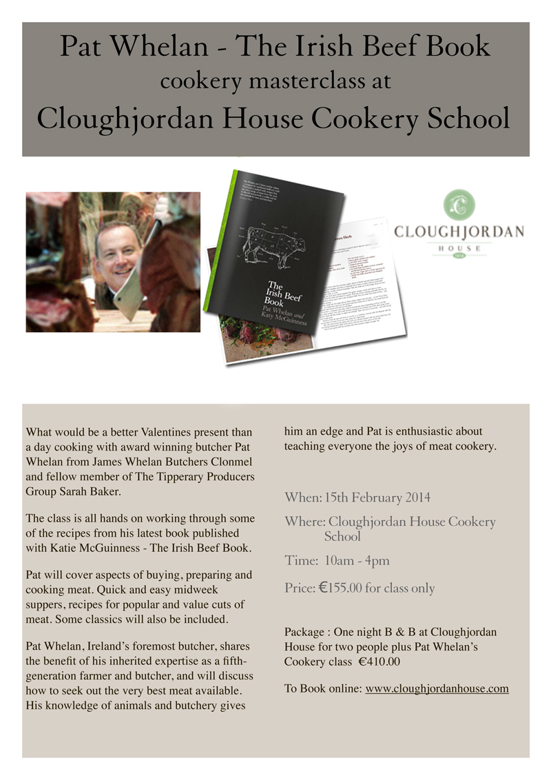 Pat Whelan - The Irish Beef Book cookery masterclass at Cloughjordan House