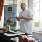 Pat's demo at the Irish Beef Masterclass in Brussels