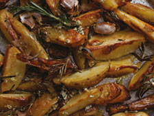 Oven chips with rosemary salt from the Irish Beef Book
