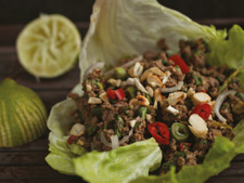 Beef Larb with Lettuce Wraps