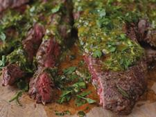 Skirt Steak with Green herb sauce