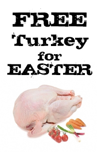 Free Easter Turkey - Order twice before Easter and receive a Free Turkey with your Easter order