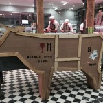 box sculpture cow